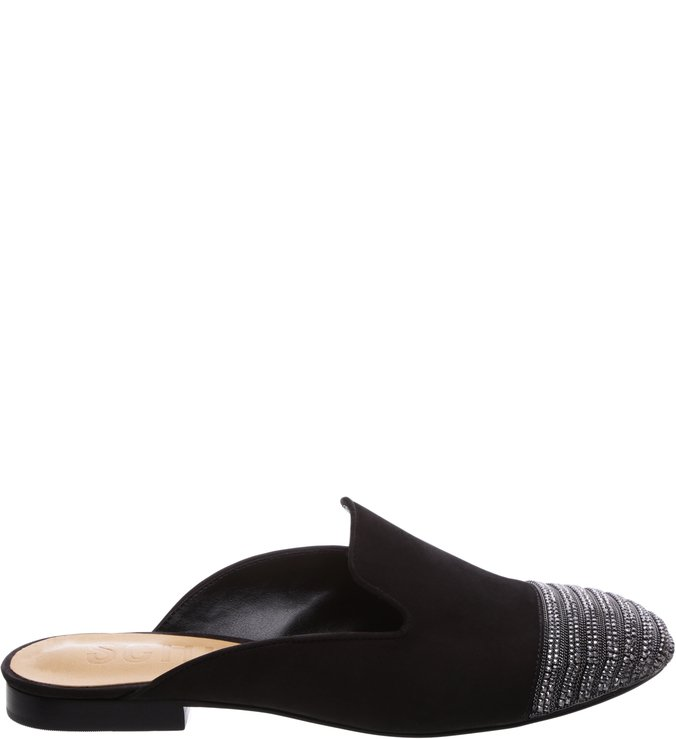Flat Mule Metalic Black