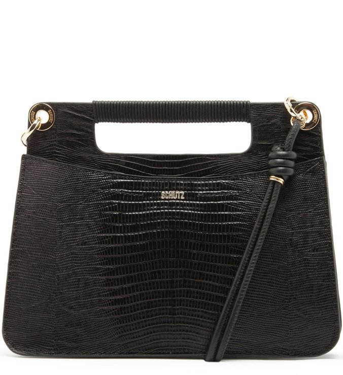 Handbag Crossbody Lezard Black | Schutz
