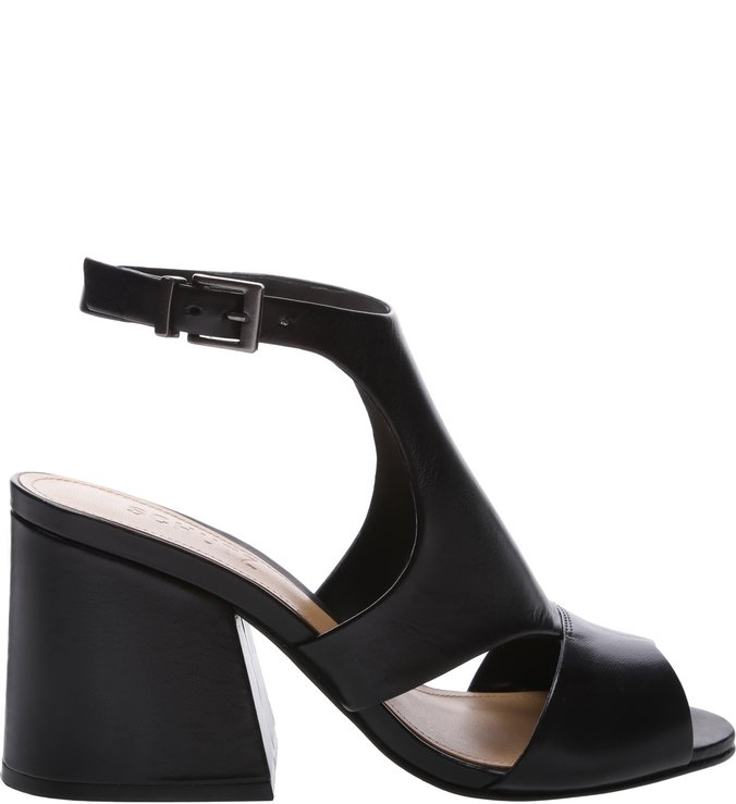 Sandália Block Heel Cut Out Black | Schutz