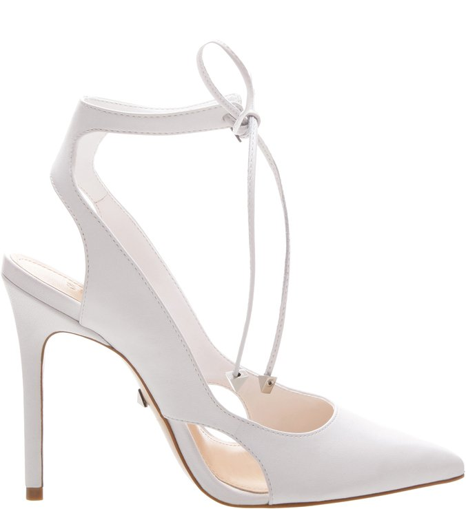 Scarpin Lace-Up White