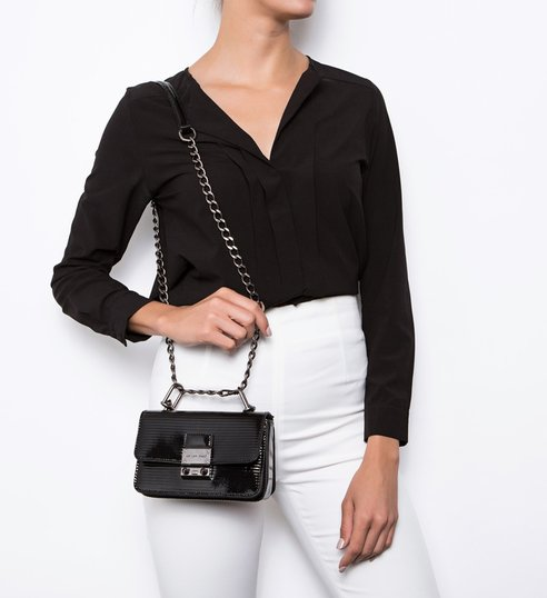 Mini Crossbody Live Love Bright Snake Black