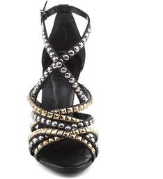 Sandália De Tachas Metals Black