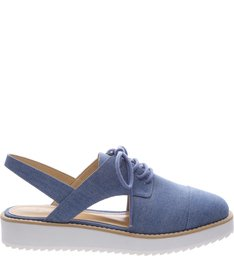 Oxford Cut Out Light Blue