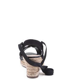 Espadrille Anabela Lace Up Black
