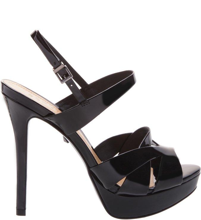Sandália Verniz Stripes Black