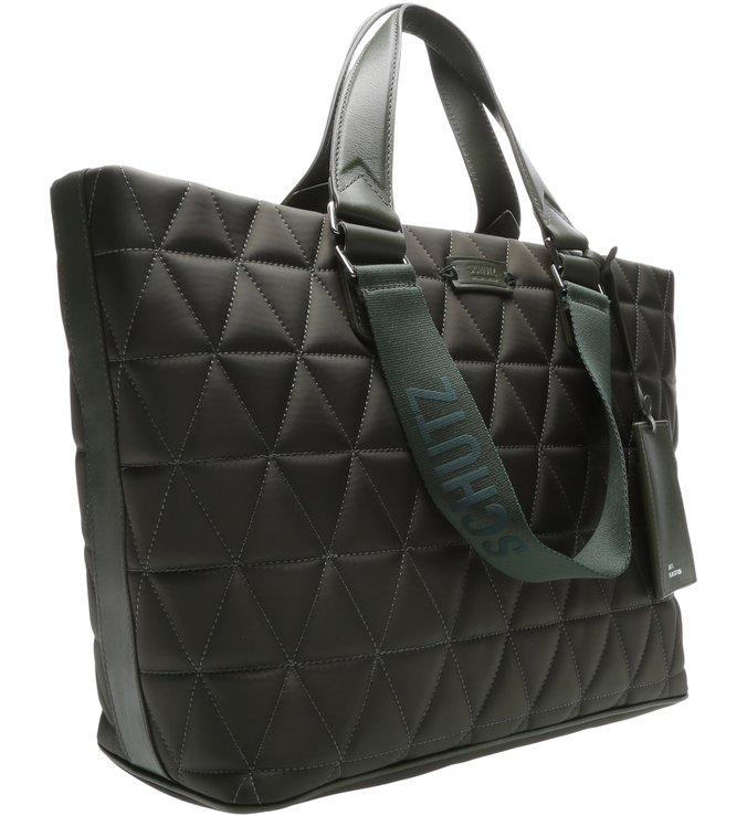 Shopping Bag Nylon Matelassê Green