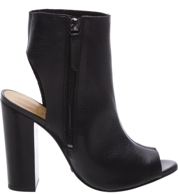 Open Back Boots Black