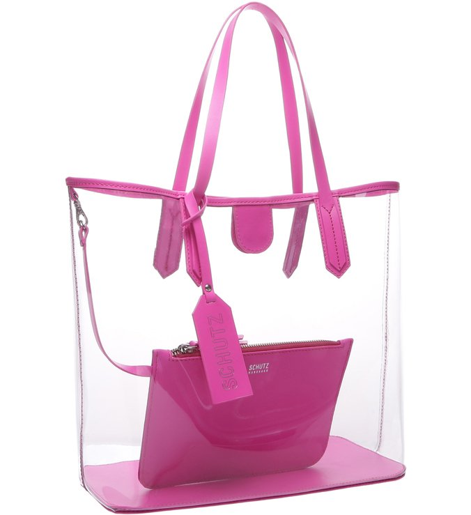 Shopping Bag Vinil Neon Pink