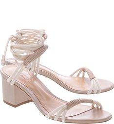 Sandália Minimal Block Heel Com Amarração