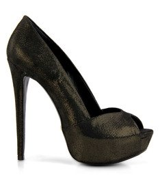Peep Toe Metalizado