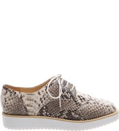 Oxford White Sole Summer Snake