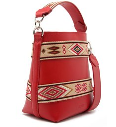 Bucket Bag Ethnic Red
