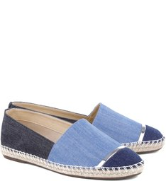 Flat Espadrille Blue Jeans