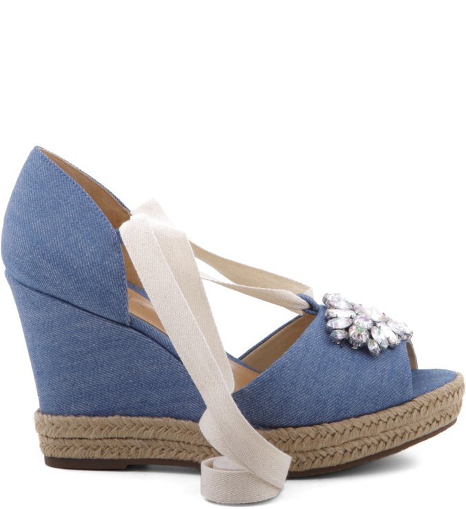 Espadrille Embellishment Light Blue