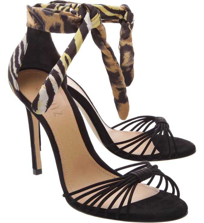 Sandália Strings Lace Up Animal Print