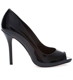 Peep Toe Verniz Black