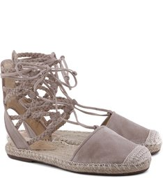 Flat Espadrille Lace Up Nude
