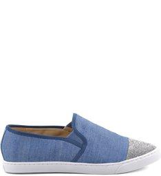 Slip On Embellished Blue