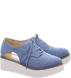 Oxford Flatform Cut Out Light Blue