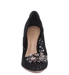 Scarpin Cristaislace Black