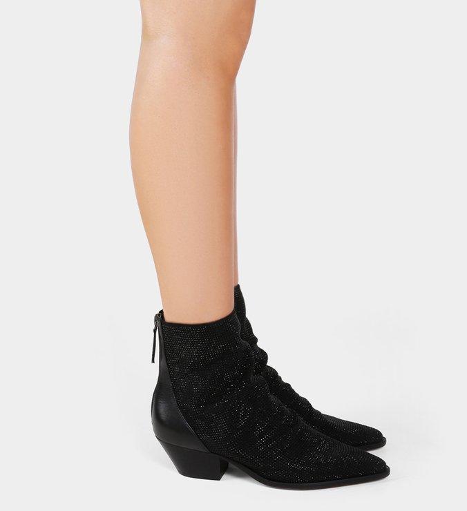 Bota Slouch Glam Western Black