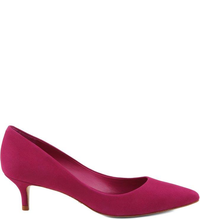 Scarpin Classic Salto Médio Nobuck True Pink
