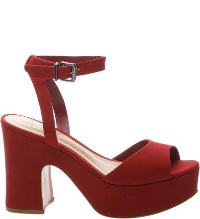 Sandália Plataforma Curves Red Wine