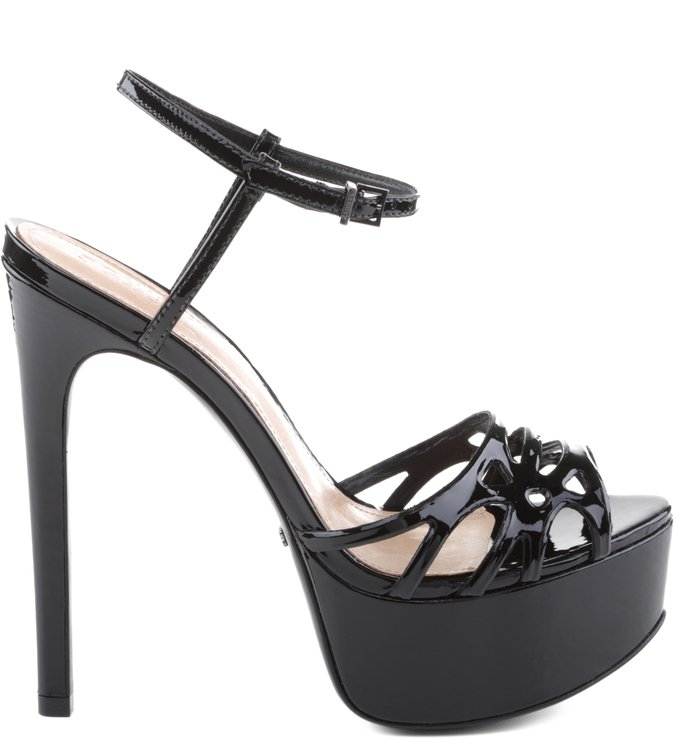 Sandália Statement Heel Verniz Black