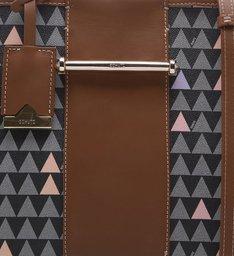 Handbag Lines Triangle Black