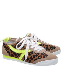 Tênis S-FUN Animal Print Neon