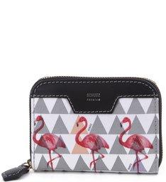 Mini Carteira Triangle Pearl Flamingo