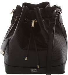 Bucket Lorena Croco Black