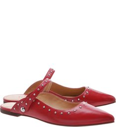 Flat New-S Girlie Studs Red