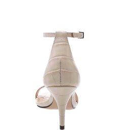 Sandália Gisele Kitten Heel Croco Pearl