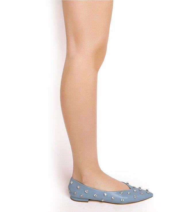 Flat Ballerina Crystal Jeans