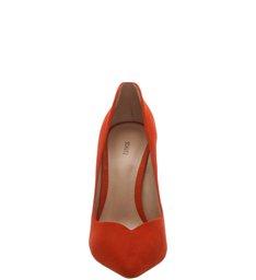 Scarpin Statement Heel Red Orange