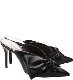 Mule Cindy High Laço Black