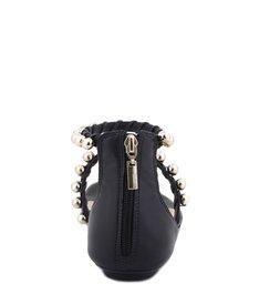 Rasteira Romantic Pearls Black
