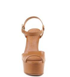 Sandália 70'S Heel Light Wood
