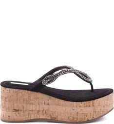 Sandália Plataforma Snake Lace Black