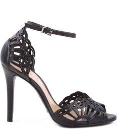 Sandália Recortes Laser Black