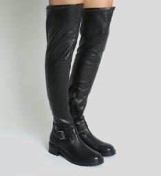 Bota Over The Knee Tratorada Black
