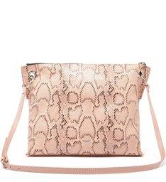 Slouchy Bag Crossbody Snake Rose