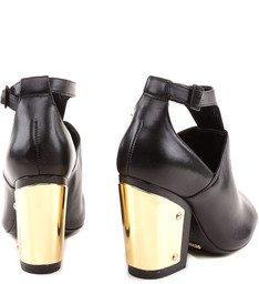 Ankle Boot Salto Bloco Preta