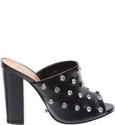 Mule High Heel Crystal Black