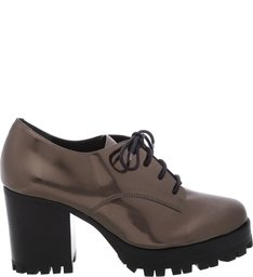 PRÉ-VENDA BEST SELLER Oxford Cross Block Heel New Aço