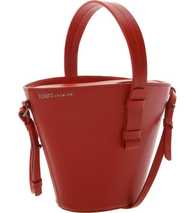 Basket Bag Mickey Leather Red