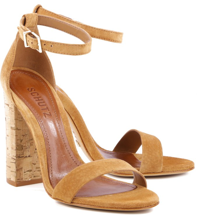 Sandália Gisele Stripe Camel
