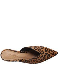 Mule Block Heel Cava Animal Print
