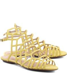 Sandália Rasteira Juliana Vibrant Yellow